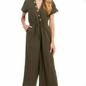 Anthropology Patrons of Peace Green Romper M